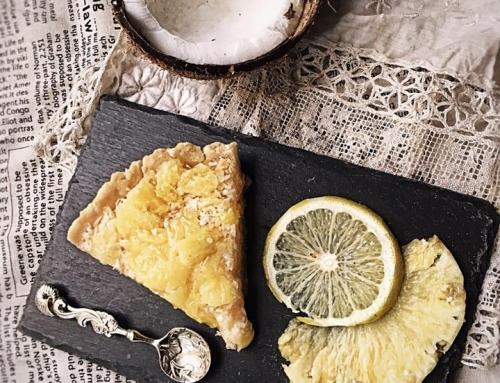 Tarte citron ananas sans gluten sans lactose