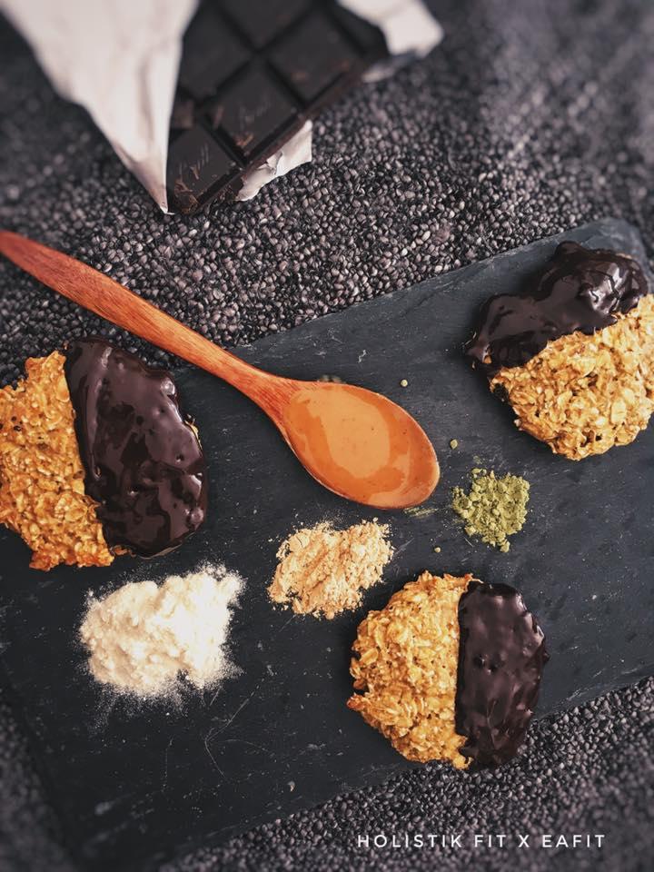 photo de cookie et ingrédients