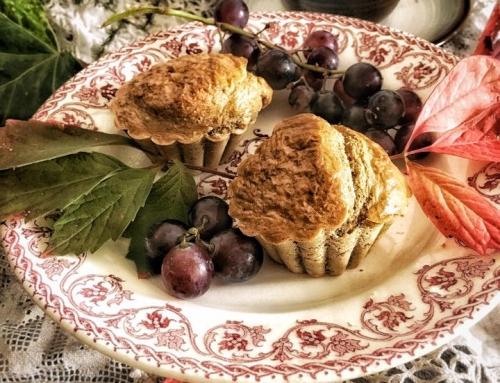 Muffins d'automne aux raisins frais sans gluten et sans lait
